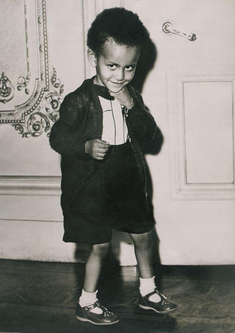 Two-year-old Prince Paul Wossen-Seged Makonnen, grandson of Ethiopian Emperor Haile Selassie, wearing Playe-Up sandals, London, November 1949. Photgrapher unknown. Courtesy AGTA/CJC