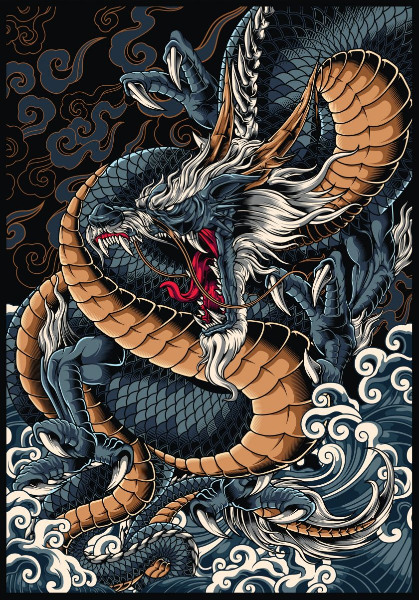Ryujin Illustration by Rom Joseph Pamintuan, winner in the Graphics, Illustration and Visual Communication Design Category, 2020-2021.