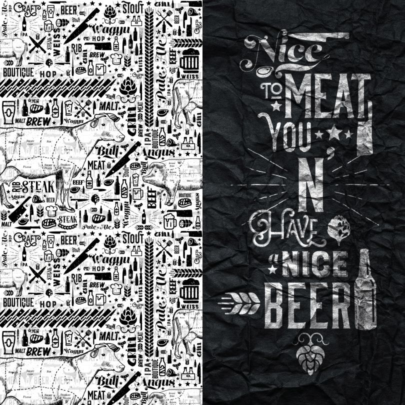 Meat N Beer Brand Design by Mateus Matos Montenegro. Winner in the Graphics and Visual Communication Design Category, 2019-2020.