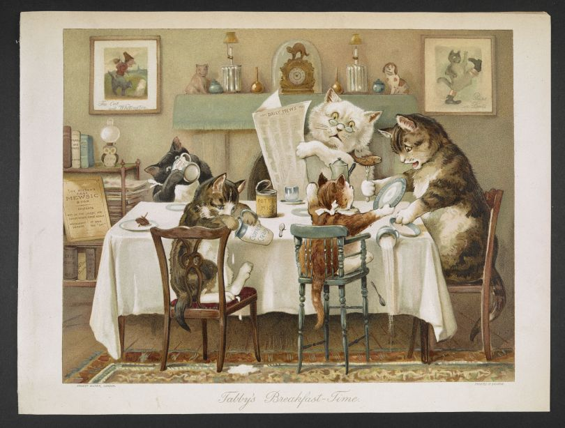 Pussy's Breakfast Time, London, Ernest Nister, 1892 (c) The British Library Board
